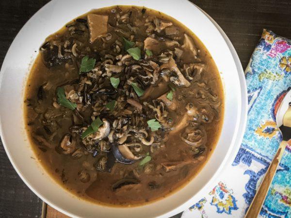 Yukon Mushroom & Wild Rice Soup