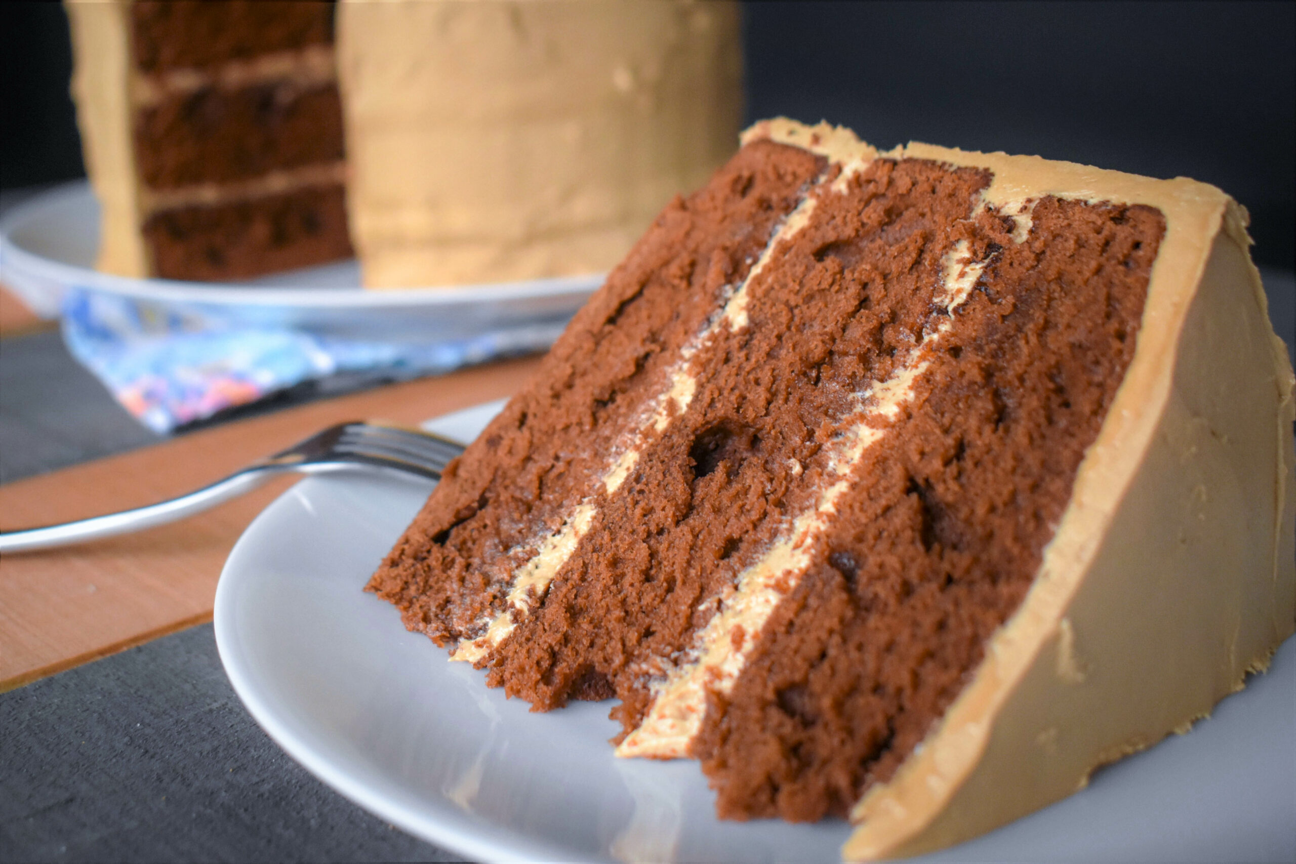 Chocolate Cake with Mocha Icing