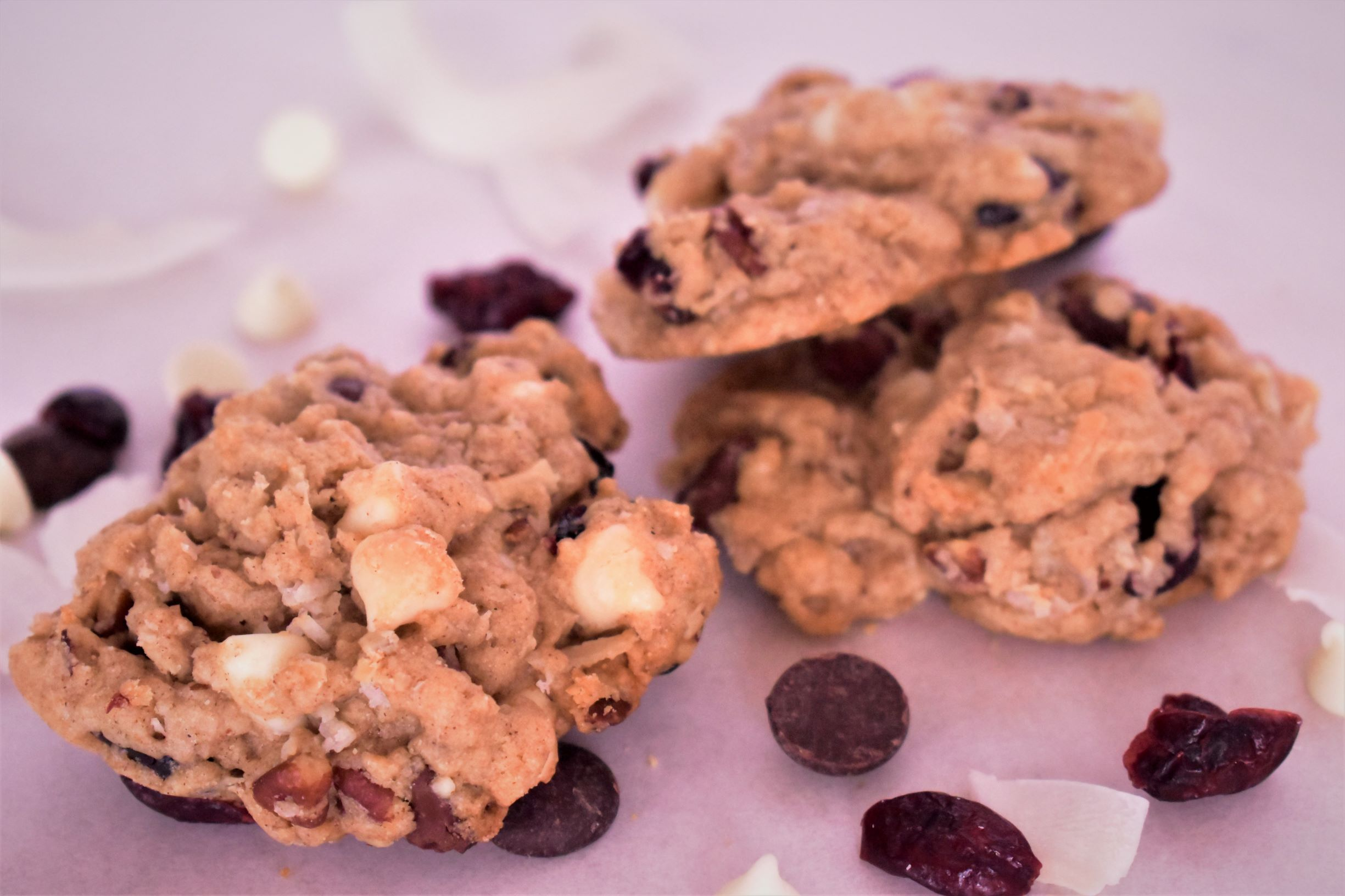 Cranberry & Double Chocolate Chip Cookies