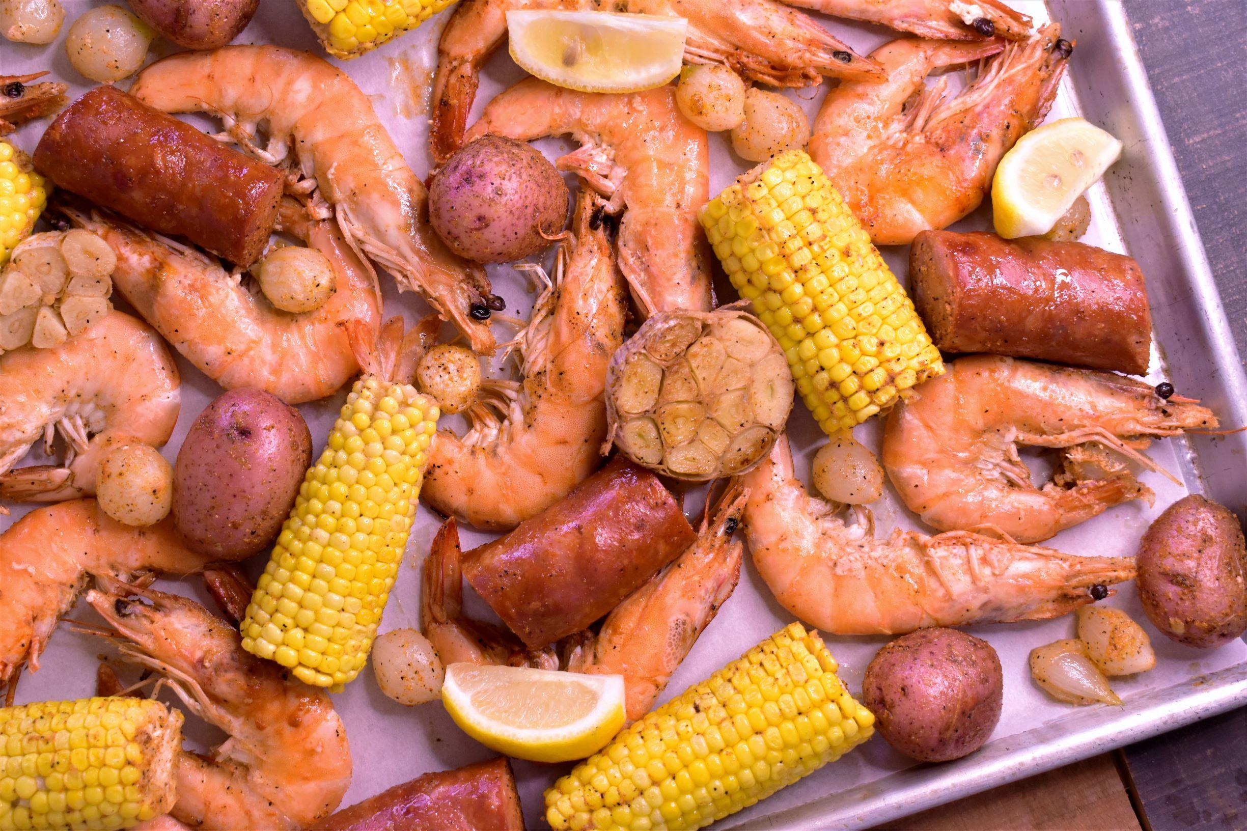 Sheet Pan Cajun Shrimp Boil