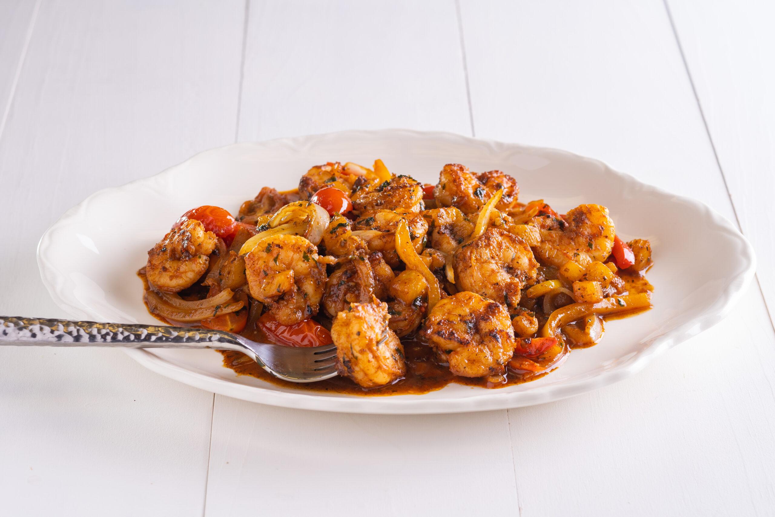 Pineapple, Pepper & Shrimp Stir-Fry
