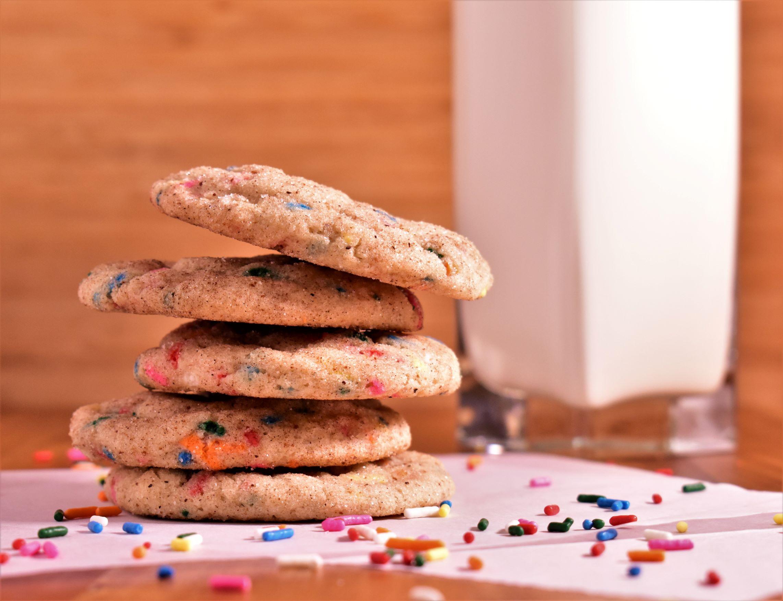 Confetti Snickerdoodle Cookies