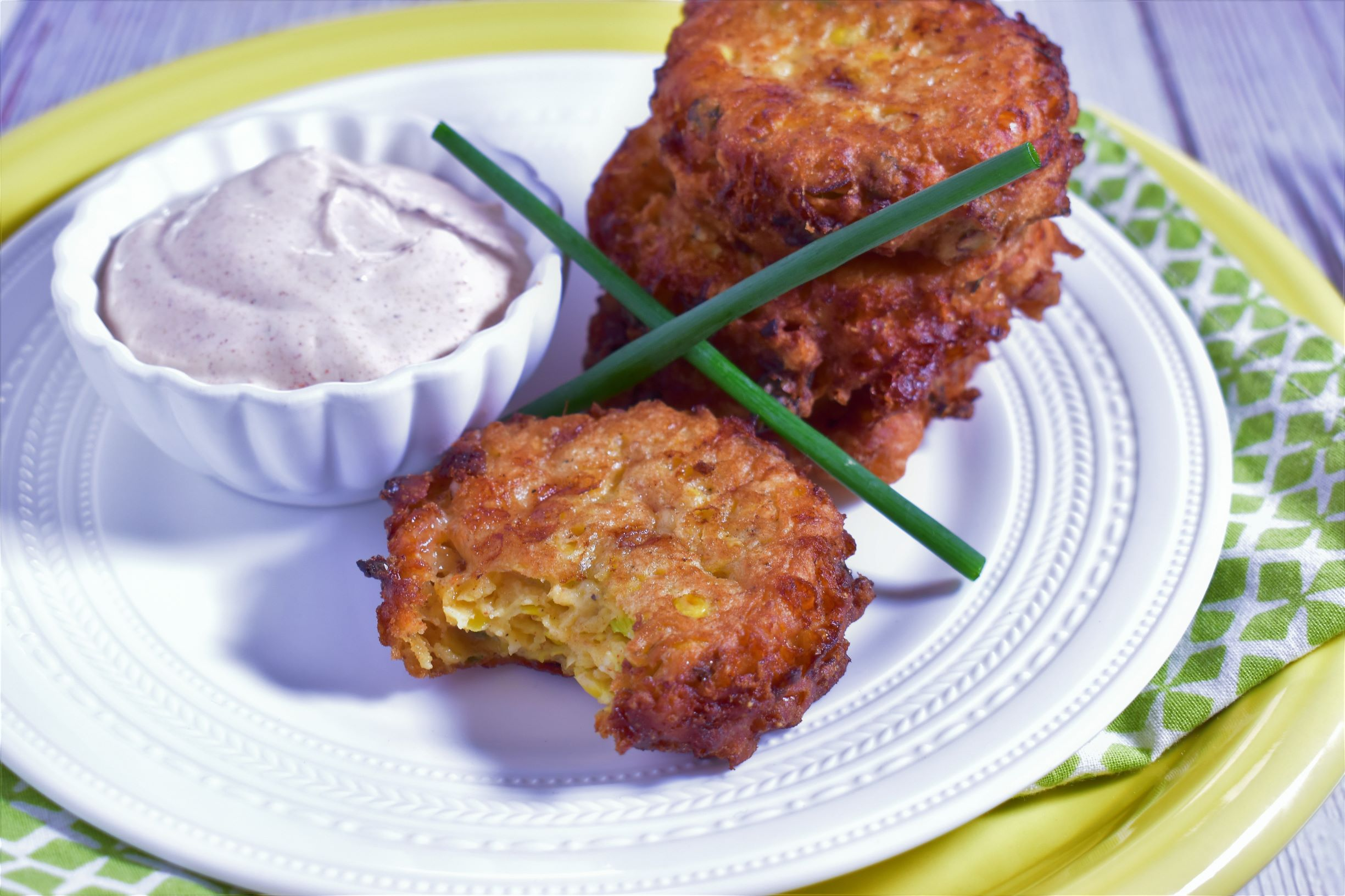 Hatch Chile & Corn Fritters